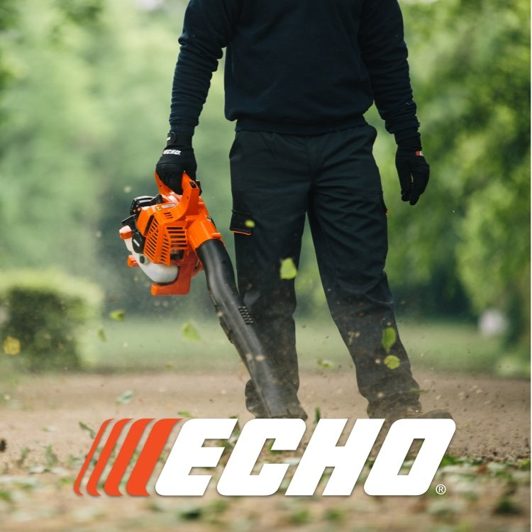 Echo leaf blower with logo