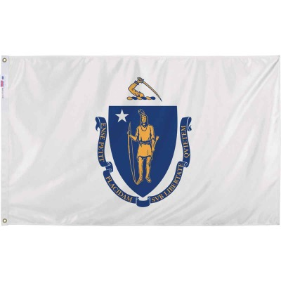 Valley Forge 3 Ft. x 5 Ft. Nylon Massachusetts State Flag