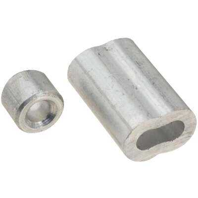 """Prime-Line Cable Ferrules and Stops, 3/16"""", Aluminum"""