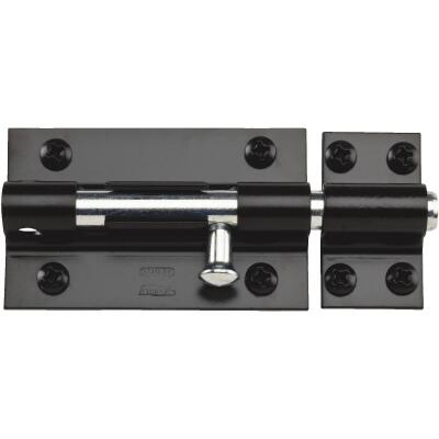 National 5 In. Black Extra Heavy Door Barrel Bolt