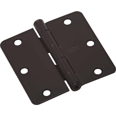National 3 In. Oil Rubbed Bronze 1/4 In. Radius Door Hinge