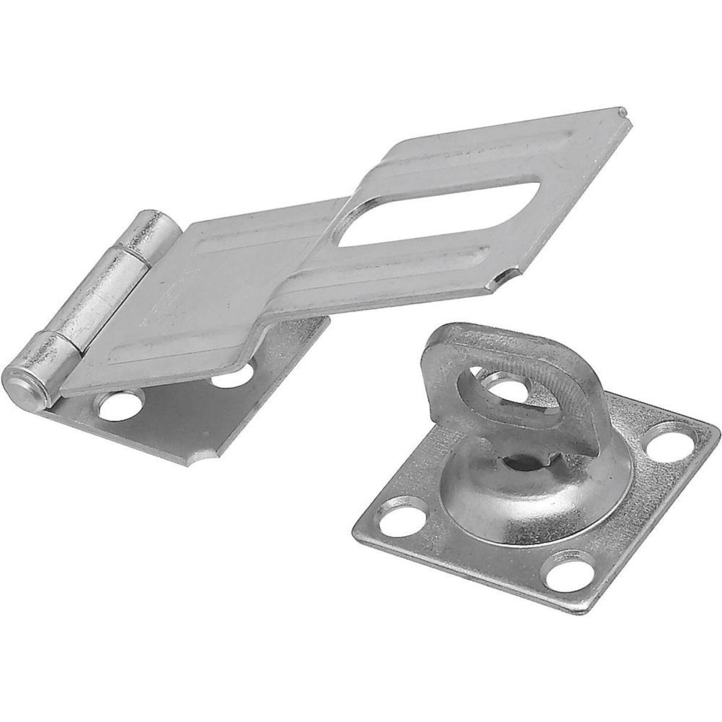 National 4-1/2 In. Zinc Swivel Safety Hasp Image 1