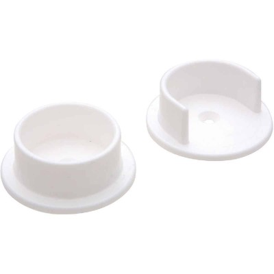 National 1-3/8 In. Plastic Closet Rod Socket, White (2-Pack)