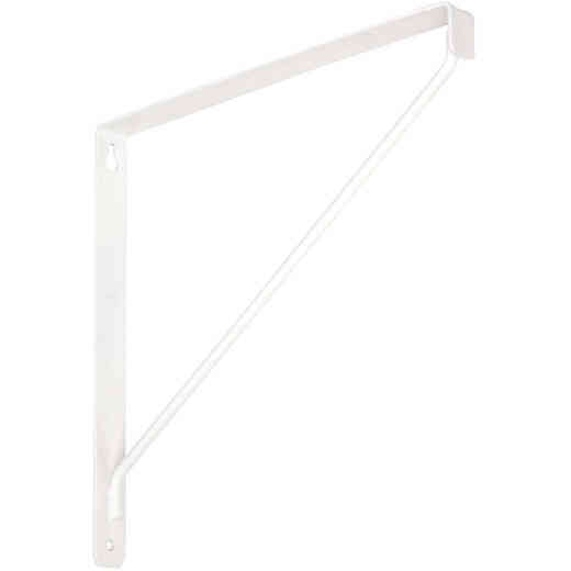 National 207 10-3/8 In. D. x 7-1/32 In. H. White Steel Shelf Bracket