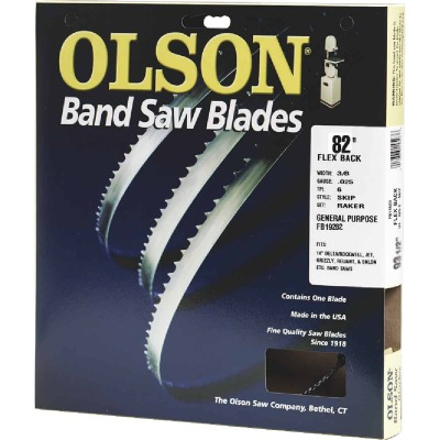 Olson 82 In. x 3/16 In. 10 TPI Regular Flex Back Band Saw Blade