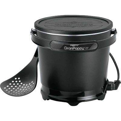 Presto GranPappy 4.5 Qt. Black Aluminum Deep Fryer