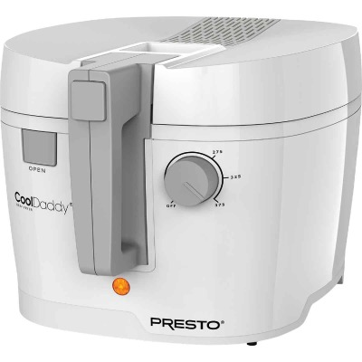 Presto CoolDaddy 1.5 Qt. White Aluminum Deep Fryer