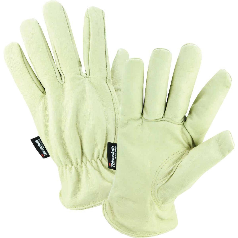 West Chester Men's XL Grain Pigkin Leather Driver Winter Work Glove Image 1