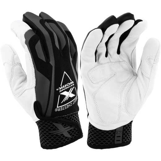 West Chester Protective Gear Extreme Work IndestruX Men's Large Sheepskin Leather Work Glove