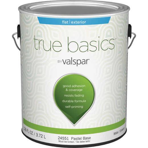 True Basics by Valspar Flat Exterior House Paint, 1 Gal., Pastel Base
