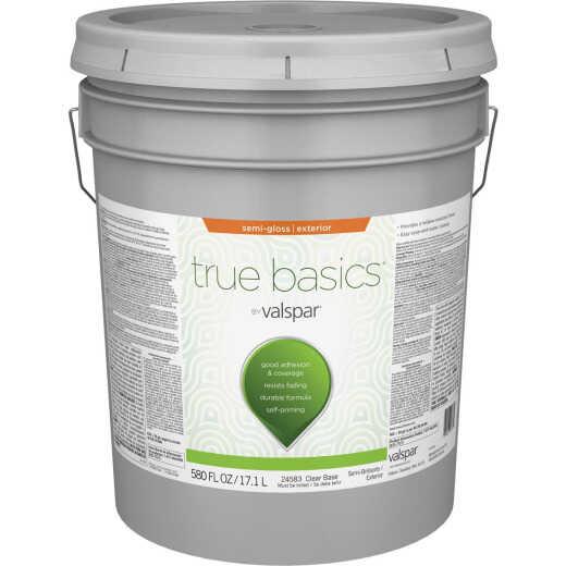 True Basics by Valspar Semi-Gloss Exterior Paint, 5 Gal., Clear Base